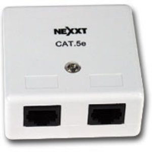 NEXXT DOUBLE PORT RJ45 CAT5E